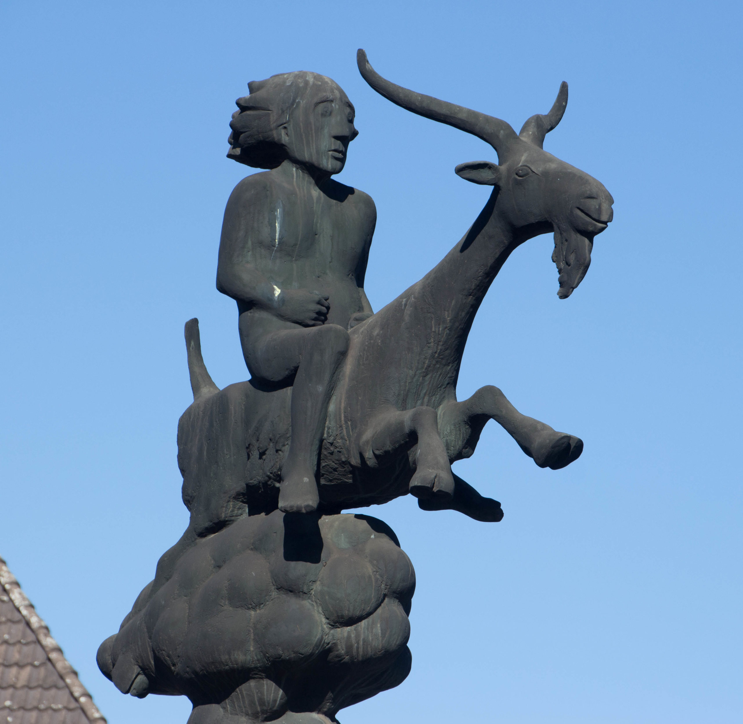 Bockreiter Statue Nahaufnahme